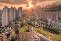Ping Shan (mikemikecat) Tags: street sunset people house building rooftop architecture night vintage hongkong colorful pattern dusk sony cityscapes hong kong nostalgia housing block   kowloon   stacked estates lionrock    carlzeiss  kowloonbay  pingshan     a7r         sel1635z fe1635mm  mikemikecat