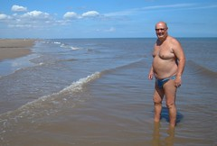 In the North Sea at Huttoft (pj's memories) Tags: sea beach briefs tanthru kiniki