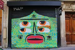 Kashink_7598 rue Saint Maur Paris 11 (meuh1246) Tags: streetart paris kashink ruesaintmaur paris11 rideaumtallique
