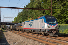 Amtrak 659 on SEPTA Extra @ Woodbourne (Dan A. Davis) Tags: septa amtrak marc cabcar train passengertrain acs64 woodbourne station langhorne pennsylvania