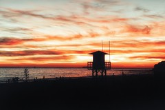 Sunset... (hobbit68) Tags: beach sky wolken clouds himmel sommer sonnenuntergang ozean andalucia boats outdoor kste sonne strand night canon boote wasser sonnenschein sunset playa espana turm spanien urlaub ufer