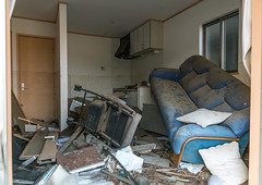 Inside a house destroyed by the 2011 earthquake and tsunami five years after, Fukushima prefecture, Tomioka, Japan (Eric Lafforgue) Tags: broken ecology japan horizontal danger unsafe dangerous energy asia risk destruction environmental radiation nobody nopeople forbidden indoors pollution ghosttown environment radioactive radioactivity damaged atomic fukushima hazard atom catastrophe exclusion contamination contaminated daiichi devastated tomioka 0people nuclearaccident fukushimaprefecture irradiate colourpicture nuclearindustry fukushimaexplosion japan161381