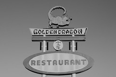Enter the Golden Dragon (dangr.dave) Tags: tucumcari nm newmexico neon neonsign route66 goldendragon restaurant dragon