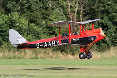 G-AAHY - 1929 build de Havilland DH.60M Moth, departing from Runway 21 at Old Warden during the 2016 Gathering of Moths (egcc) Tags: 1362 2016gatheringofmoths biplane brooklandsflyingclub dh60m dehavilland egth elliott gaahy gatheringofmoths gipsy hbafi lightroom moth oldwarden shuttleworth