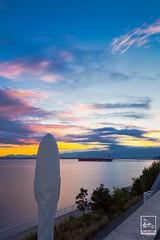 ANTICIPATION (Imaginoor Photography) Tags: seattle sunset sky sculpture ship sam echo shehab hossain imaginoorphotography