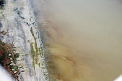 Aerial view of mud plumes, Salton Sea, Imperial County, California (cocoi_m) Tags: california nature mud aerial geology saltonsea plume contamination aerialphotograph imperialcounty