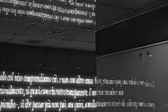 Understand the reflections (Cozla) Tags: reflections glass neon lights installation art kunst blackwhite station underground naples napoli dante convivio gaeaulenti josephkosuth knowledge understand reflection mirror