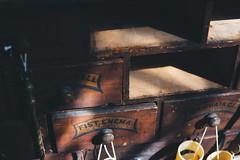 Fist Enema (I AM JAMIE KING) Tags: bridlington chemist display drawers old retro shop sign text vintage fist enema fistenema pharmacy cabinet medical
