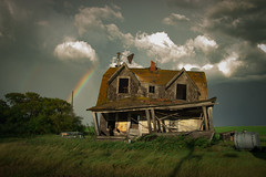 After The Storm (gerrypocha) Tags: sunset sky storm abandoned clouds homestead prairie derelict