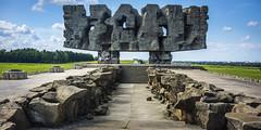 Poland - Lublin - Majdanek Camp - Monument 01_panorama_DSC1058 (Darrell Godliman) Tags: polandlublinmajdanekcampmonument01panoramadsc1058 kllublin madjanek exterminationcamp holocaust lublin poland nazism nazi wiktortokin monument  massive worldwarii