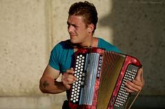 Portrait (Natali Antonovich) Tags: belgiancoast oostende portrait lifestyle relaxation seasideresort seashore seaside seaboard musician accordion musicalinstrument belgium belgique belgie