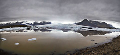 Fjallsrln Reflections (daniel_hinrichsen) Tags: fjallsrln reflection mud muddy water ice glacier cold mountain volcano iceland hiking hike travel photography europe island lagoon