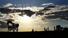 Santa Fe California and Oregon Trails Monument (georgepettigrew) Tags: monument kansas city santa fe trail oregon california sunset aftenoon expansion westward