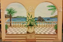 Promenade (manu1362) Tags: acryl acrylgemälde promenade südseeflair strand wasser meer palmen