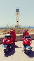 Faro Cap de Barbaria,  Formentera (Pigeon Little Duck) Tags: formentera faro moto motorino mar mediterrneo islasbaleares