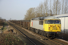 56311 passes Sherburn-in-Elmet (Ross Taylor pictures 2015) Tags: 56311 6z20 dcr class56 york holgate sidings 2014 march sherburninelmet yorkshire north grid railways freight