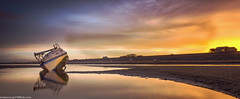 Meols Beach (4 of 7) (andyyoung37) Tags: beech meolsbeech merseyside reflections silhouette sea seaside sky sunrise thewirral meols england unitedkingdom gb
