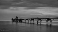 Clevedon Peir - explored (handmiles) Tags: mono monochrome blackandwhite bw peir clevedon somerset northsomerset southwest coast beach water longexposure blur movement reflections clouds victorian sony sonya77mark2 sonya77m2 tamron tamron18200mm ndfilter nd1000 mileshandphotography2016