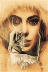 """Sizin gibi skntlar yaamayan birinin  tlerini ciddiye almayn.""   Sidney J. Haris  #photography #women #face #edit #art #collage #tiger #mask #dream #fantastic #surreal #artwork #freeart #popart #portrait #portraitdrawing #artpeople #artpeoplegalle (mrbrooks2016) Tags: stepbystep illustration freeart face collage editedphoto portraitdrawing mask photography tiger dream popart artwork photodesign art portrait edit poster stepbystepme editedstepbystep surreal fantastic women artpeople artpeoplegallery"