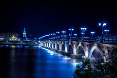 Blue Night (julienseignol) Tags: canon night lights 760d streetphotography bordeaux water perspective blue city