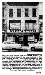 menter clothing 1954 (albany group archive) Tags: albany ny menter clothing 1954 63 65 south pearl oldalbany history