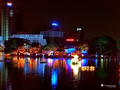 Beira Lake on Vesak Poya Day