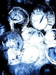 Into My Cobweb (FULVIO BELLUCCI ART) Tags: blue abstract texture water metal painting spider darkness deep fluid cobweb liquid depth informal fulviofilippobellucci