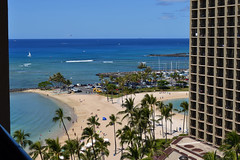 View from Hilton Ali'i Tower (1) (Ian E. Abbott) Tags: vacation hotel waikiki oahu hilton honolulu hiltonhawaiianvillage rainbowtower hiltonhotels beachresorts honoluluhotel hiltonhawaiianvillagebeachresort waikikihotel hotelwaikiki waikikiresorts beachalii towerocean viewhawaiian