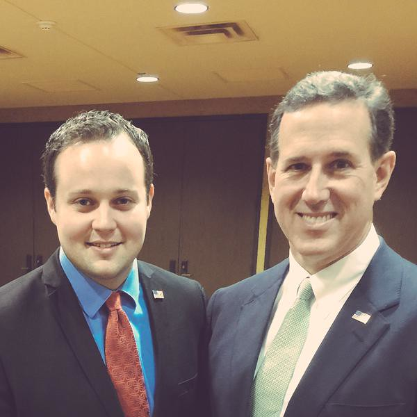 JOSH DUGGAR with Santorum