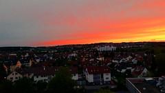 Filderstadt - Plattenhardt und Bonlanden - Sunset (eagle1effi) Tags: sunset cityscape sonnenuntergang badenwrttemberg wrttemberg filderstadt bonlanden sooc plattenhardt regionstuttgart knigreichwrttemberg sfcam