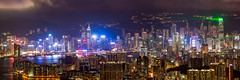 Lightshow in Hongkong (Keith Mulcahy) Tags: hongkong skyscrapers lighttrails kowloon longexposures kowloonpeak feingoshan keithmulcahy blackcygnusphotography ppa7a0 ppd56c