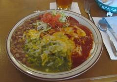 NM 150 (dadadreams (Michelle Lanter)) Tags: newmexico santafe enchiladas redchile greenchile atriscocafe christmasencihladas