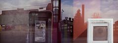 Lent 2015: Untitled #10 (coneslayer) Tags: mill film canon buildings holga fuji doubleexposure multipleexposure communication transportation canonet ql17 reala telephones payphones parkinglots carparks fujicolor rangefinders canonetql17giii colornegative industrialbuildings holga135 groundtransportation paytelephones superiareala100