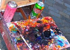 Dipinto su tavolozza (SoleTempesta) Tags: colore montmartre parigi artisti pennello tempere soletempesta