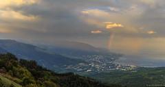 Thunderstorm under Yalta (chromeruss) Tags: sea mountain storm mountains rain canon russia thunderstorm crimea yalta thunder hardrain