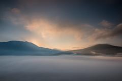 Risveglio in Pian Grande (cucjanji) Tags: parco mist fog clouds sunrise landscape nikon nuvole alba nikkor nebbia montagna f28 paesaggio monti d800 norcia castelluccio nazionale landscapeart 2470 sibillini vettore