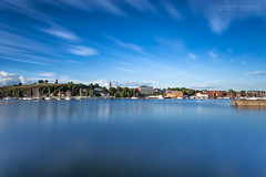 100 sec Part I - The Summer City (Normann Photography) Tags: flickrsocial normannphotography vestfold norway no 100secexposure blue bluesky docklands heavyblue hometown leefilters longexposure mht nowaves pier quay reflections saturated sea strongblue stunning summer summerinthecity thebigstopper tønsbergthesummercityinnorway tripod visitnorway water wavesequalized wharf wow
