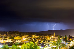 lightning strike (eb78) Tags: longexposure nightphotography storm turkey middleeast lightning cappadocia anatolia goreme