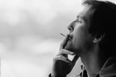 Dmitry (Anton Zabermach) Tags: portrait blackandwhite bw film analog 35mm dof smoke nikkor ilford fp4 nikonfe2 selfdeveloped microphen 135mmf28ai