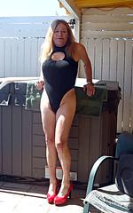 6-21-16 (9) (Spanky de Bautumn) Tags: tv cd lingerie tranny blonde bimbo trap ts bathingsuit tg shemale femboi ladyboysissy