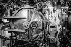 USS Cod (SS-224) Torpedo Tube (Tony__K) Tags: leica mp cz 50mm sonnar f15 trix kodak hc110 hc110b 800 iso800 sub submarine ss224 usscod cleveland lake erie ishootfilm bw blackandwhite monochrome abstract
