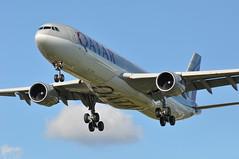 QR0001 DOH-LHR (A380spotter) Tags: approach landing arrival finals shortfinals threshold belly airbus a330 300x a7aeg  alduheil qatar  qatarairways qtr qr qr0001 dohlhr runway27l 27l london heathrow egll lhr