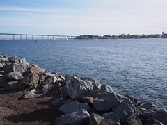 View of Coronad Bridge & Island from Embarcadero Marina Park North (procrast8) Tags: california park ca bridge marina island bay san downtown north diego embarcadero coronado