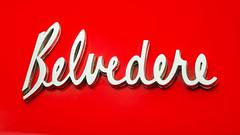 Belvedere Script (GmanViz) Tags: gmanviz color car automobile detail goodguysppgnationals nikon d7000 1964 plymouth belvedere stationwagon badge chrome script type