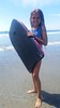 Violet And Her Boogie Board (Joe Shlabotnik) Tags: galaxys5 justviolet beach higginsbeach violet boogieboard maine july2016 cameraphone 2016