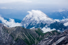 Zugspitze (sanjayshankaranarayana (namduphotography)) Tags: highest peak zugspitze clouds mountains green