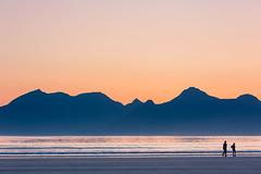 Cleadale walkers (M.Holland) Tags: ocean sunset sea mountains island scotland 5d walkers hebrides eigg isleofrum cleadale isleofegg cleadalebeach