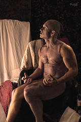 Frankenstein (tim_asato) Tags: portrait male jock pecs monster nude model legs masculine muscle retrato makeup hunk frankenstein trunk guapo abs stud scars bold bicep monstruo desnudo maquillaje hansome masculino musculo cicatrices beautifulmag timasato lorealonso evgenykhorin