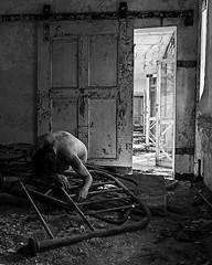 No Exit Wound (sadandbeautiful (Sarah)) Tags: bw woman selfportrait ny abandoned me female self psychiatrichospital