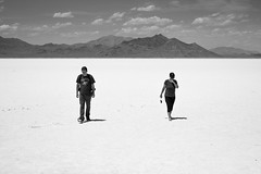 (Molly Sanborn) Tags: utah salt flats nature landscape panorama summer travel people visitors blackandwhite monochrome